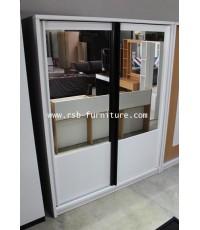 ตู้เสื้อผ้าเกรส บานสไลด์ขนาด 160 cm บานตู้เป็นกระจก