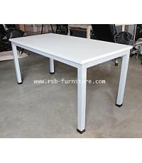โต๊ะทำงาน ขาเหล็กกล่อง ขนาด 150 cm