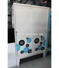 ตู้เสื้อผ้าเหล็ก KIOSK บานสไลด์  WDC-05