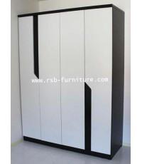 ตู้เสื้อผ้าโมนิค ขนาด 160 cm 4 บานประตู