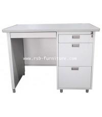 โต๊ะทำงานเหล็ก LUCKYWORLD 100 และ 120 CM รหัส 1716 (รุ่น DX หน้าโต๊ะพ่นEPOXY)
