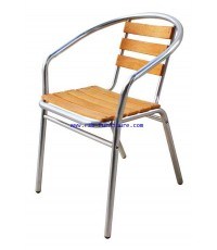 เก้าอี้อลูมิเนียมไม้ รหัส 424 ราคาส่ง