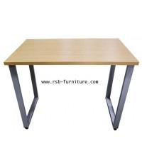 โต๊ะทำงานขาเหล็ก เสริมคานเหล็กคาดใต้โต๊ะ 100 cm รหัส 1784