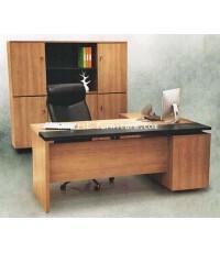 โต๊ะผู้บริหาร+ไซค์บอร์ดข้าง รหัส 1889