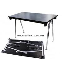 โต๊ะพับขาเหล็ก ตัว V งานดีไซน์ รหัส 1189