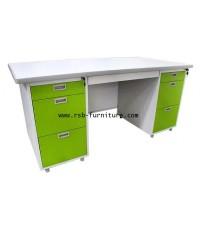 โต๊ะทำงานเหล็ก 160 cm DX-52-33 รหัส 1419