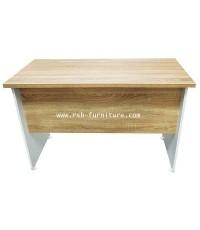 โต๊ะทำงานโล่งมีบังหน้า120 cm  รหัส 2003