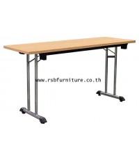 โต๊ะพับอเนกประสงค์ TOP เมลามีน 120-180 CM ขาเหล็กชุบโครเมี่ยม รหัส 2037