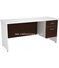 โต๊ะทำงาน ขาไม้ 160 cm 2 ลิ้นชัก รหัส 2127