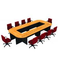 โต๊ะประชุม ตัวต่อ ขาไม้ 10 ที่นั่ง 420 x 200 cm รหัส 2136