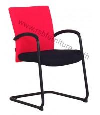 เก้าอี้สำนักงาน พนักพิงผ้า ขาเหล็กดำ ตัว C รหัส 2136