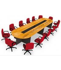 โต๊ะประชุม ตัวต่อ ขาไม้ 14-18 ที่นั่ง 570 x 150 cm รหัส 2146