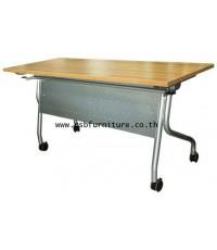 โต๊ะพับล้อเลื่อน 150 CM โครงเหล็กหนา สั่งทำขนาดได้ รหัส 719