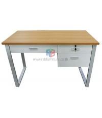 โต๊ะทำงานขาเหล็ก 3ลิ้นชัก มีขนาด 100 / 120 CM รุ่นขายดี รหัส 696