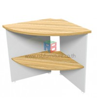 โต๊ะเข้ามุม 70 cm. มีชั้นวาง เมลามีนพิเศษ รหัส 2257