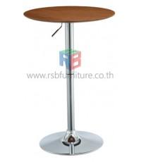 โต๊ะกลมอเนกประสงค์ 60 cm ขาเหล็กดีไซน์ ปรับระดับความสูงได้ รหัส 2062