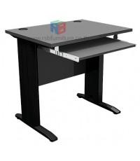 โต๊ะคอมพิวเตอร์ 80 cm ขาเหล็กดำ เมลามีน รหัส 2273