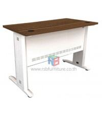 โต๊ะทำงานโล่ง เมลามีนลายไม้สีพิเศษ ZEBRANO ขาเหล็กสีขาว ขนาดW120/160 CM รหัส 2286