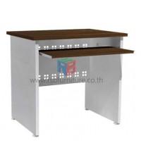 โต๊ะคอมพิวเตอร์ 80 cm ขาไม้ปรับระดับได้ เมลามีน บังหน้าเหล็กฉลุลาย รหัส 2301