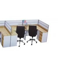 โต๊ะทำงานกลุ่ม 2 ที่นั่ง 306 x 122 cmเมลามีนสีพิเศษ รหัส 2333