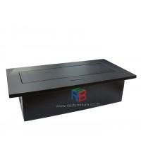 กล่องปลั๊กไฟ ป็อปอัพ สำหรับโต๊ะประชุม รหัส 2413 (3 ปลั๊ก, 1 LAN, 1 TEL)