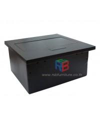 กล่องปลั๊กไฟ ป็อปอัพ สำหรับโต๊ะประชุม รหัส 2420 (1 ปลั๊ก, 1 LAN)