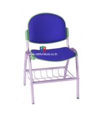 เก้าอี้สำนักงาน รหัส 2472 มีตะแกรงเหล็กวางของ