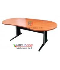 โต๊ะทำงาน ทรงหยดน้ำ ขาเหล็กปั้มเงา มีขนาด W120/150/180 cm รหัส 2603