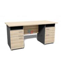 โต๊ะทำงาน W160 x D80 CM 2ช่องโล่ง+4 ลิ้นชัก รหัส 2614