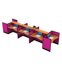 โต๊ะทำงานกลุ่ม 8ที่นั่ง TOP WAVE WORKSTATION W502XD125XH108CM รหัส 2656