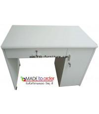 โต๊ะทำงาน 1ลิ้นชัก 1บานเปิด เมลามีนทั้งตัวขนาด 100X60CM รหัส 532 สั่งทำตามขนาดได้