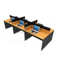 โต๊ะทำงานกลุ่ม 6 ที่นั่ง WORKSTATION W364XD120XH106CM MINI SCREEN หุ้มเหล็ก รหัส 2670