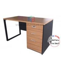 โต๊ะทำงาน ขาเหล็กสลับกับขาไม้ ลิ้นชักเต็มถึงพื้น ขนาด W120/150/180 CM รหัส 2750