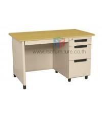 โต๊ะทำงานเหล็ก หน้า Top ไม้ W121.9xD68xH75 cm TU-40 TAIYO รหัส 2807