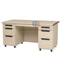 โต๊ะทำงานเหล็ก หน้า Top ไม้ W152.4xD68xH75 cm TU-50 TAIYO รหัส 2808