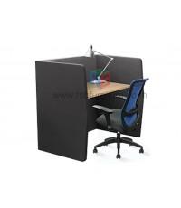 CUBIC OFFICE BOOTH ภายในมีโต๊ะไม้ ขนาด W120XD60 CM รุ่น PCD1309 รหัส 2832
