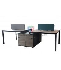 โต๊ะทำงานกลุ่ม WORKSTATION ขนาด W280XD120 CM พร้อมฉาก รหัส 2743