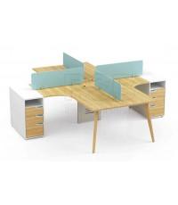 โต๊ะทำงานกลุ่ม 4ที่นั่ง รหัส 2886