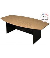 โต๊ะประชุมทรงเรือใบขาไม้ รหัส 2919