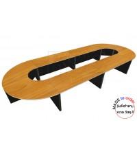 โต๊ะประชุม ขาไม้ รหัส 2924