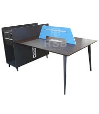 โต๊ะทำงานกลุ่ม WORKSTATION2 ที่นั่ง ขนาด W187XD120CM พร้อมฉาก (สามารถซื้อเพิ่มเพื่อต่อได้) รหัส 2941