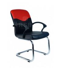 เก้าอี้สำนักงาน ขาเหล็ก ตัว C แขนไฟเบอร์ สามารถเลือกสีหนังได้ รหัส 3011