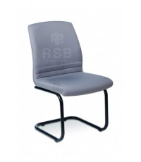เก้าอี้สำนักงาน ขาเหล็กตัว C พนักพิง และที่นั่งเบาะหนัง รหัส 3027
