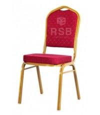 เก้าอี้จัดเลี้ยง โครงเหล็กสีทอง มีคานคาดระหว่างขา รหัส 3154