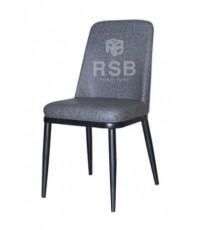 เก้าอี้ทานอาหาร เบาะหนัง โครงเหล็กสีดำ รหัส 3160