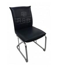 เก้าอี้สำนักงาน ขาเหล็กตัว C พนักพิง และเบาะหนัง มีคานรับด้านหลัง รหัส 3172