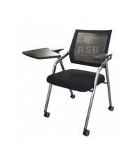 เก้าอี้เลคเชอร์ มีล้อ พับเบาะขึ้นได้ พนักพิงตาข่าย รหัส 3175