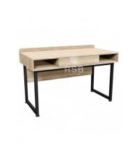 โต๊ะทำงาน ลิ้นชัก  มีขอบกันตก แผ่นบังหน้าเหล็กฉลุลาย ขนาด 120 x 60 cm รหัส 3178