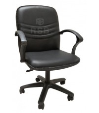 เก้าอี้สำนักงาน เบาะหนัง ขาไฟเบอร์ รหัส 3192