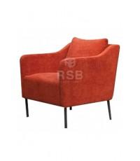 เก้าอี้อาร์มแชร์ Armchair ขาเหล็ก ทรง Retro รหัส 3245